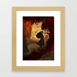 The Fall Witch Framed Art Print