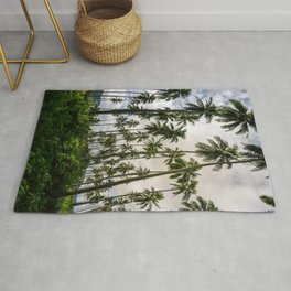 Palm Trees Kauai Hawaii Printable Wall Art | Tropical Beach Nature Ocean Coastal Travel Photography Print Rug