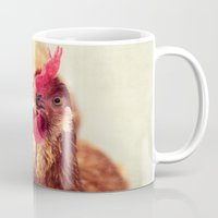 chicken Mugs featuring chicken by Beverly LeFevre