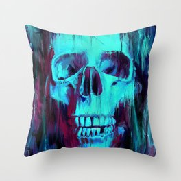 Calavera Painted Throw Pillow