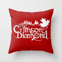 The Crimson Diamond monochromatic logo Throw Pillow