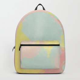 Abstract Pastel Acrylic Backpack