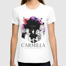 Carmilla White Womens Fitted Tee MEDIUM