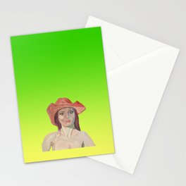 Red hat girl  Stationery Cards