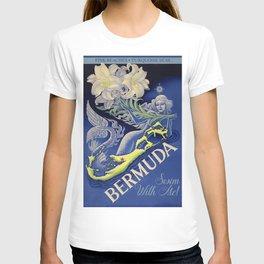Vintage Mermaid Bermuda T-shirt