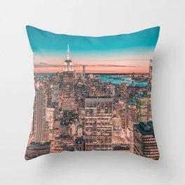 NYC Night Sky Throw Pillow