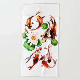 b22a55c94 Koi Beach Towels | Society6