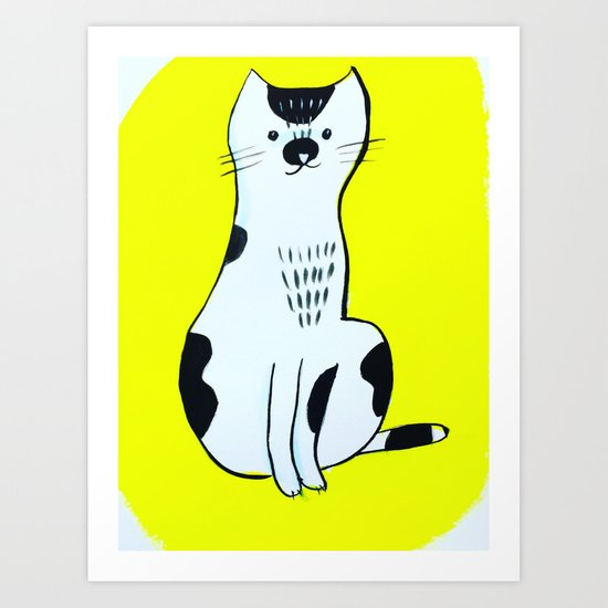 Spotted Cat Art Print