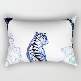 Ombre Tiger Moon Rectangular Pillow