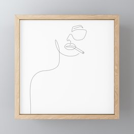 Sunny Smoke Framed Mini Art Print