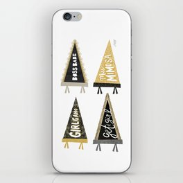 Girl Gang Pennants iPhone Skin
