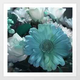 Blue And White Bouquet Art Print