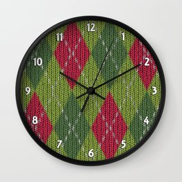 Pink Roses in Anzures 3 Argyle 1 Wall Clock