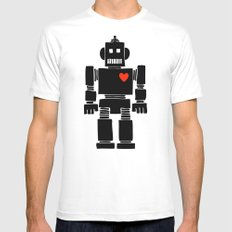 Loverbot MEDIUM White Mens Fitted Tee