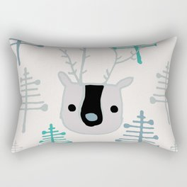 Holiday winter deer Rectangular Pillow