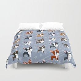 Boston Terriers Duvet Cover