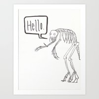 Friendly monster Art Print