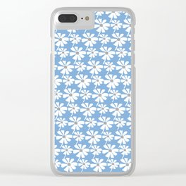 Daisies In The Summer Breeze - Blue Grey White Clear iPhone Case