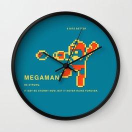 8 BITS BETTER -  MEGAMAN Wall Clock