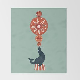 Circus Seal Throw Blanket