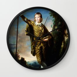 "Sir Joshua Reynolds ""Thomas Lister (The brown boy)"" Wall Clock"