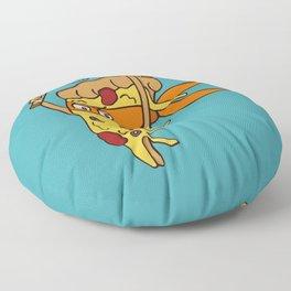 Orange Pizza Ninja Floor Pillow