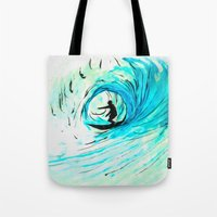 surfer Tote Bags featuring Surfer by Bruce Stanfield