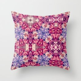 berry floral Throw Pillow