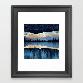 Midnight Lake Framed Art Print