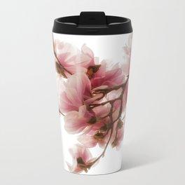 Magnolia tree, pretty pink blooms Metal Travel Mug