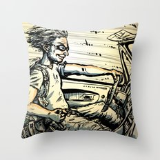 Run for the Border! Throw Pillow