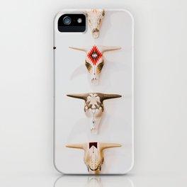 Bull Skulls - Mexican Folk Art iPhone Case