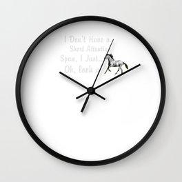 Horse Short Attention Span Wall Clock