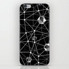 Black and White Geometric Shape Constellation Dream iPhone Skin