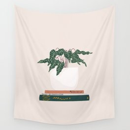 Vase no. 17 with Alocasia Polly Wall Tapestry