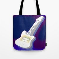 guitar Tote Bags featuring Guitar by Vitta