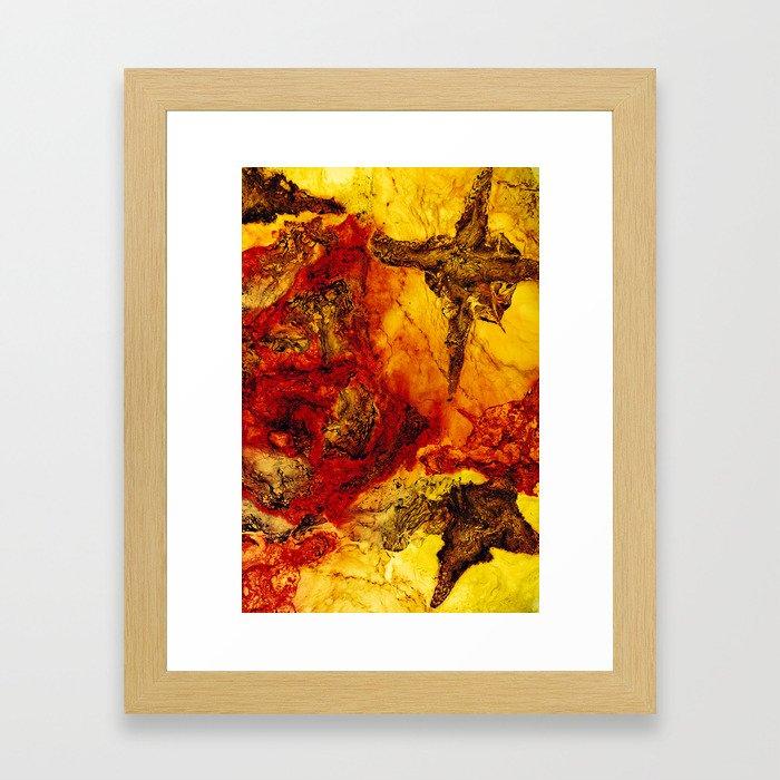 Through the Gap Framed Art Print