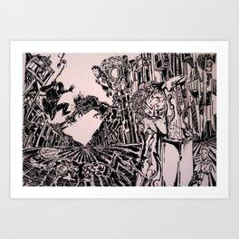 Collapsing Art Print