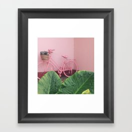 Pastel Bicycle Framed Art Print