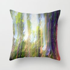 Sun shower in the Fairy Forest Throw Pillow