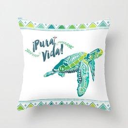 Costa Rica Turtle Throw Pillow