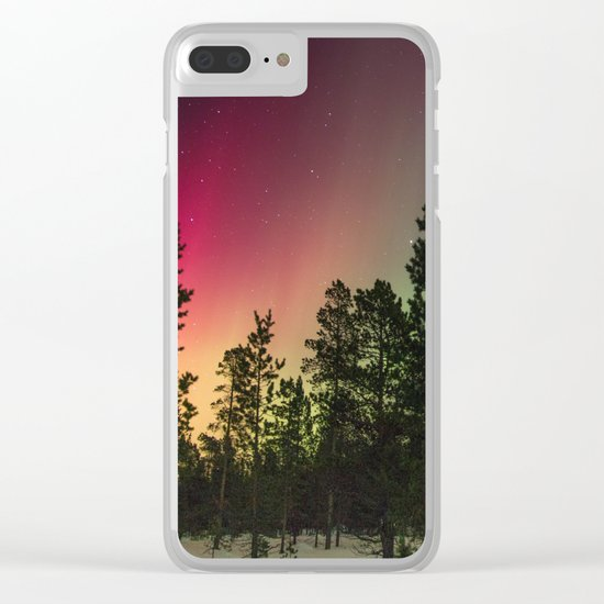 Northern Lights Clear iPhone Case