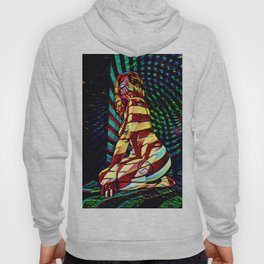 1881s-MS Abstracted Art Nude with Color Hoody