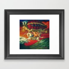 Revenge Of The Narwal Framed Art Print