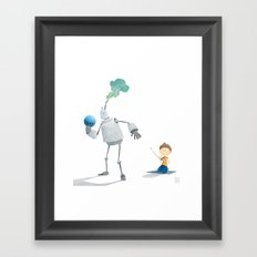 Steambot Bowling Framed Art Print