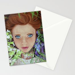 Among flowers Stationery Cards