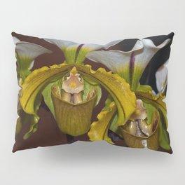 Paphiopedilum Orchid Pillow Sham