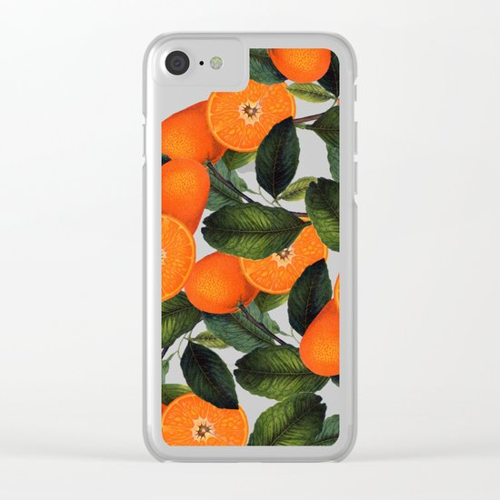 The Forbidden Orange #society6 #decor #buyart Clear iPhone Case