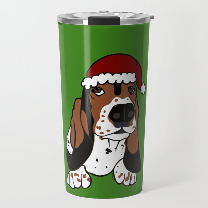 A Basset Full of Christmas Travel Mug