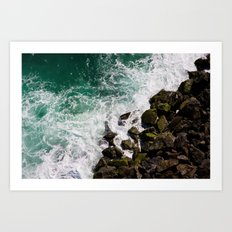 Sea and Rocks Art Print